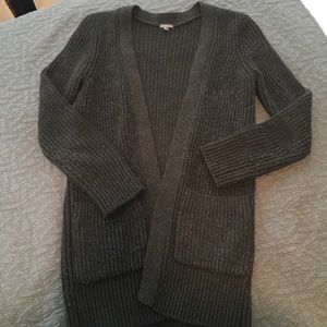 Charlotte Russe over-sized, charcoal grey cardigan